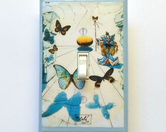 Dali's Alice in Wonderland switchplates w/ MATCHING SCREWS- Dali art Salvador Dali switch covers surrealistic Dali paintings Dali paintings