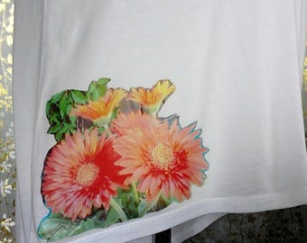 Look What I did using Iron On Transfer Original Photography Gerbera's