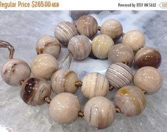 50% Mega Sale 19mm Petrified Wood Fossil Beads #5
