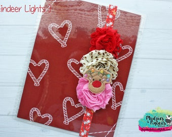 Christmas planner band { Reindeer Lights } pink, red paper clip, holiday erin condren, happy planner cover accessories bookmark, bible band