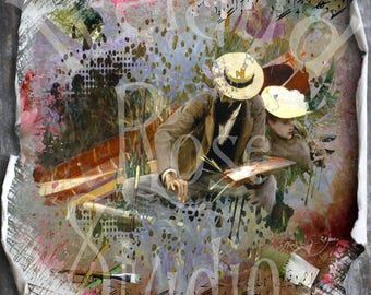 The Artist ~ Altered art/Mixed Media Greeting Card