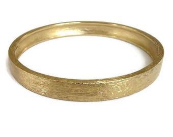 SALE Monet Bangle Bracelet in a Brushed Gold Tone Finish Vintage signed