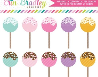 80% OFF SALE Cake Pop Clipart, Clip Art, Dessert Clipart Graphics, Food Clip Art, Personal and Commercial Use