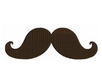 SALE 65% OFF Mustache Moustache Machine Embroidery Designs 4x4 & 5x7 Instant Download Sale