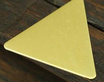 Brass Triangle Blank, 20 Raw Brass Triangle Stamping Blanks (22x25kmm) Brs 3020 A0412