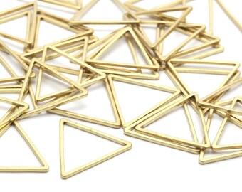 17mm Brass Triangles, 50 Raw Brass Triangles (17x17x17mm) Bs-1123