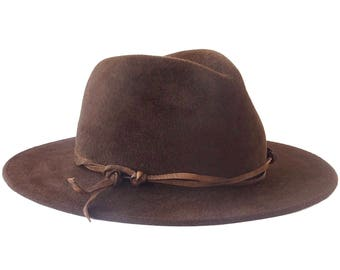 Wide Brimmed Fedora Hat Women's Hat Fall Fashion Fall Accessories Winter Accessories Cowboy Hat Western Style Boho Chic Hat Festival Hat