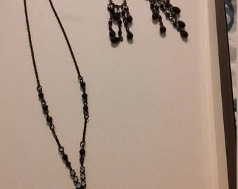 Claires necklace and drop earrings