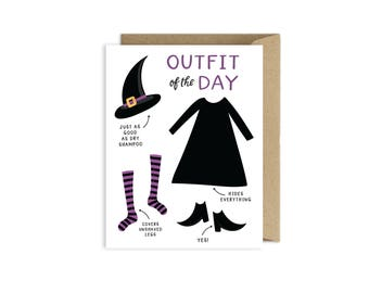 Halloween Witch Greeting Card