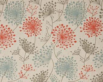 Pair of Curtain Panels with Rod Pockets - Byram Irish Daisy Linen Laken -Choose Size