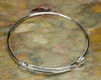 Expandable Triple Loop Bracelets Bangles in Silver Plated or Rhodium Plated