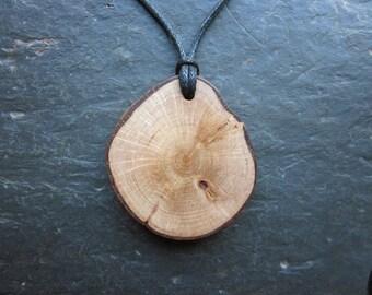 Unique Natural Wood Pendant - Hazel - for Wisdom.