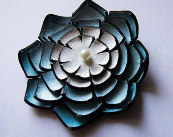 40% OFF SALE Jewelry supplies. Handmade LARGE leather Lilly flower for crafts and jewelry making