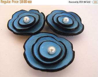 40% OFF SALE Leather flowers supplies for jewelry making Jewelry supplies Leather flowers