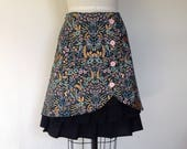 Reserved for Holladay- Olivia cotton ruffle front skirt Sz