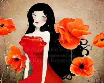 50% Off - Summer SALE Orange Poppies - open edition print