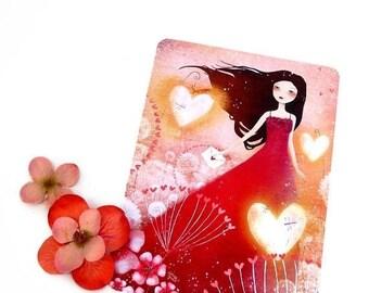 30% Off - Summer SALE 30 Percent Off - Summer SALE Heart Lanterns - Postcard