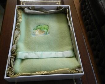 Lambswool Blanket - Green