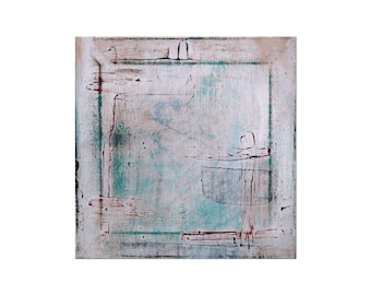Original Painting - Abstract Modern Art - Contemporary Art - 'Frame Out' - 12in x 12in - Artist Nicole Dietz
