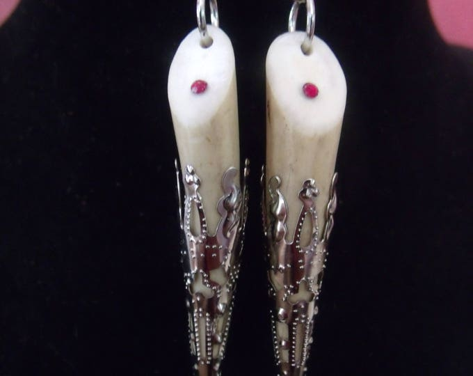 Authentic Deer Antler Tip Earrings, Deer Antler Earrings, Whitetail Deer Antler, Deer Antler Tip Earrings,