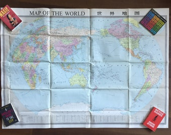 Vintage Wall-sized World Map  - 5-foot Wide
