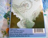 Stamped Needlework, Stamped for Embroidery, Southern Bell, Quilt Block, Pillow Cover, Quilt Squares to embroidery