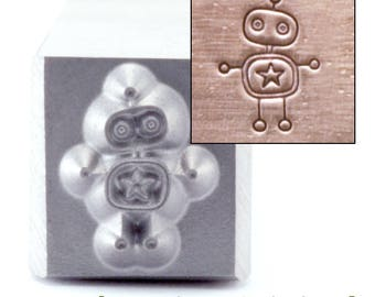 Robot Metal Design Stamp 5mm wide by 7mm high - Beaducation Original