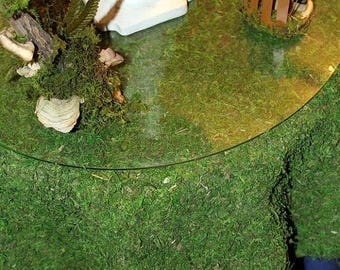 Save25% Round Moss table cloth-Moss Christmas tree skirt-Preserved moss no water needed-Real moss