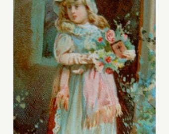 ONSALE Pretty Antique  Lion Coffee Trading Card