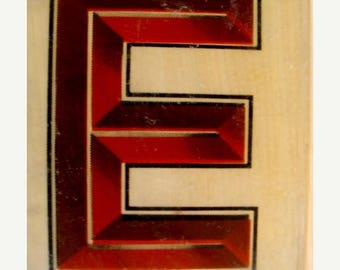 ONSALE Rare  Vintage Industrial Steampunk Acrylic Numbered and Letter Tile Blocks