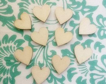 12 pc Wood Heart slice 20mm-Dozen Wooden Hearts-Wedding heart slice