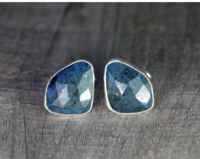 Summer Sale Lapis Lazuli Cufflinks Set In Sterling Silver, Blue Wedding Gift For Him, 21ct Lapis Cufflinks, Handmade In UK
