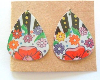 Upcycled Candy Tin Earring Findings Pair