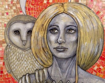 Athena Goddess Original Artwork by Lynnette Shelley