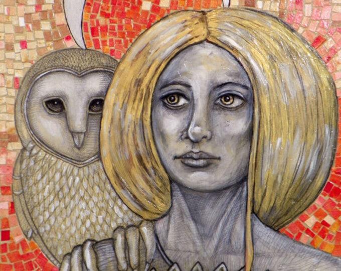 Athena Goddess Original Artwork by Lynnette Shelley