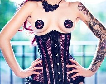 Custom colour READY TO WEAR- sizes 18 to 26 inch underbust corset