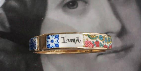 Irmã Sister Bracelet Bangle Portugal Portuguese Tiles Azulejos Heritage PRE ORDER