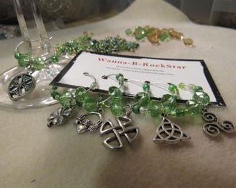 CELTIC Celebrations - Silver plated - Wine or Drink Charms