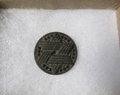 Reserved for PSmith Judaica Button Large Black Glass Antique Cloak Button Coat Button