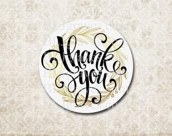 Thank You Sticker Wedding Baby Birthday Shower Sticker Treat Bag Party Favor Sticker SP006