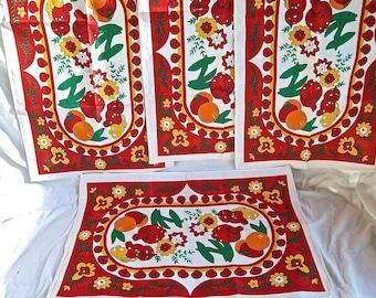 Vintage Tea Towel Set Vintage Kitchen Towel Set Vintage Old New Stock Tea Towels Home and Living Vintage Kitchen Decor Indoor Outdoor Towels