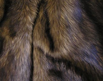 WOLF FAUX FUR Brown Black: Available for Sale on September 7th