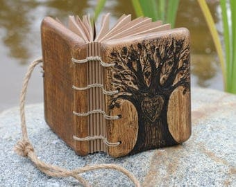 Tree of Life  small wedding guestbook rustic wood writing journal bridal shower engagement anniversary