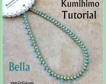 Tutorial Bella Kumihimo Pinch Silky Beads Necklace PDF