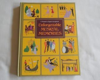 A Reader's Digest Songbook Unforgettable Musical Memories Hardcover Spiral Bound 1984