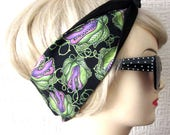 Audrey 2 Hair Tie by Dolly Cool Halloween Carnivorous Plant Horror B Movie Self Designed Fabric Audrey II Little Shop of Horrors