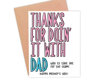 Funny Mother's Day Card | Funny Card For Mom | Naughty Mother's Day Card | Funny Mom Card - Doin' It With Dad