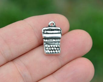 1 Silver I Love You Typewriter Charms SC5310