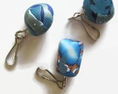 Large Zipper Pull, Arthritis Accessory, Blue Zipper Pull