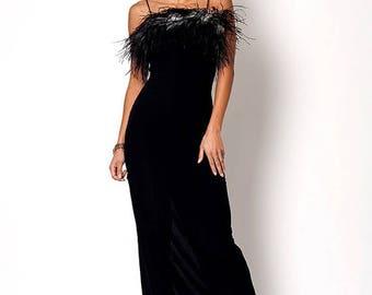 40% SUMMER SALE The Pretty Woman Black Slit Cocktail Dress